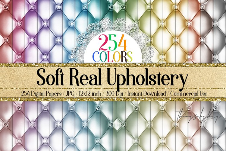 254 Soft Diamond Upholstery Digital Papers Sew Quilt Leather