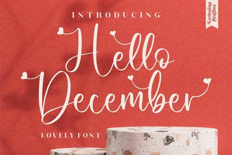 Hello December - Beautiful Lovely Script Font example image 1