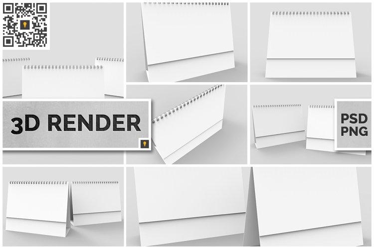 Desktop Calendar 3D Render example image 1