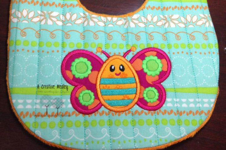 Peekaboo Butterfly Applique example image 1