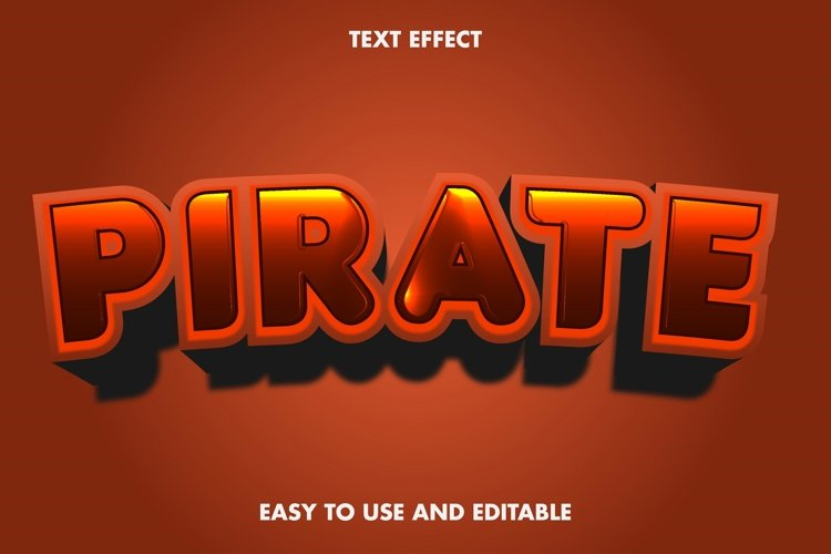 Pirate text effect. easy to use and editable. premium vector example image 1