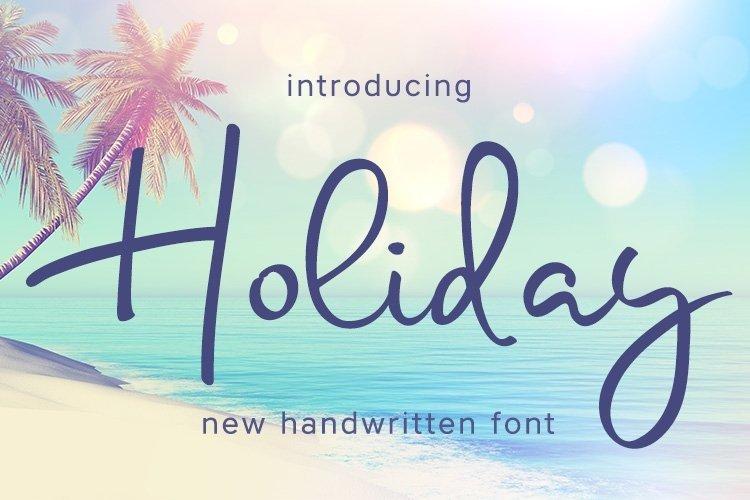 Web Font Holiday example image 1