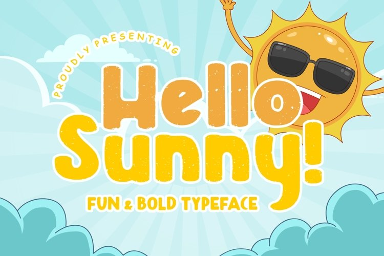 Hello Sunny Fun & Bold Typeface example image 1
