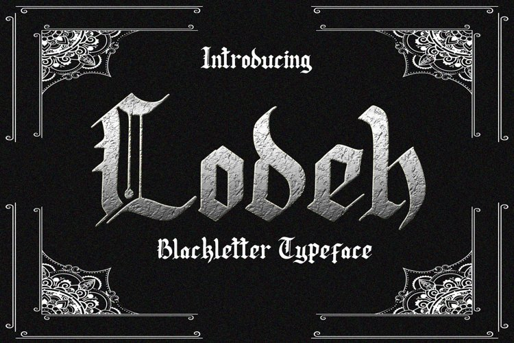 Lodeh - Black Letter Typeface example image 1