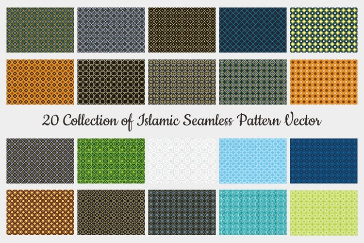 20 Collection of Seamless Pattern Vector Background example image 1