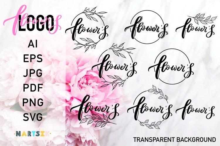 Flower Logo, Set of floral logos.