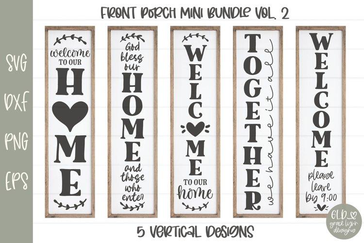 Porch Sign Mini Bundle VOL. 2 - 5 Vertical SVG Designs example image 1