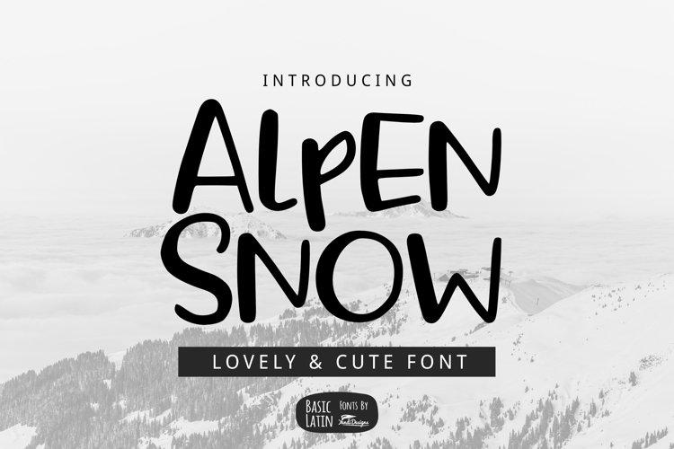 Alpen Snow Font example image 1