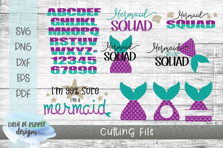 Mermaid SVG Bundle - A Mermaid SVG for Cricut and Silhouette