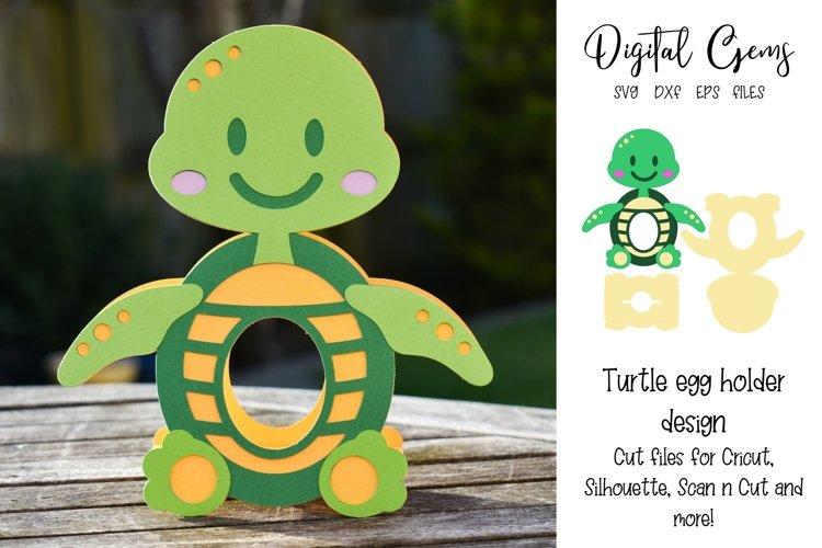 Turtle Easter egg holder design SVG / DXF / EPS example image 1