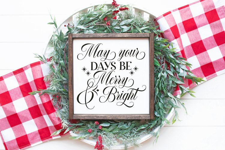 Merry and Bright Christmas SVG example image 1