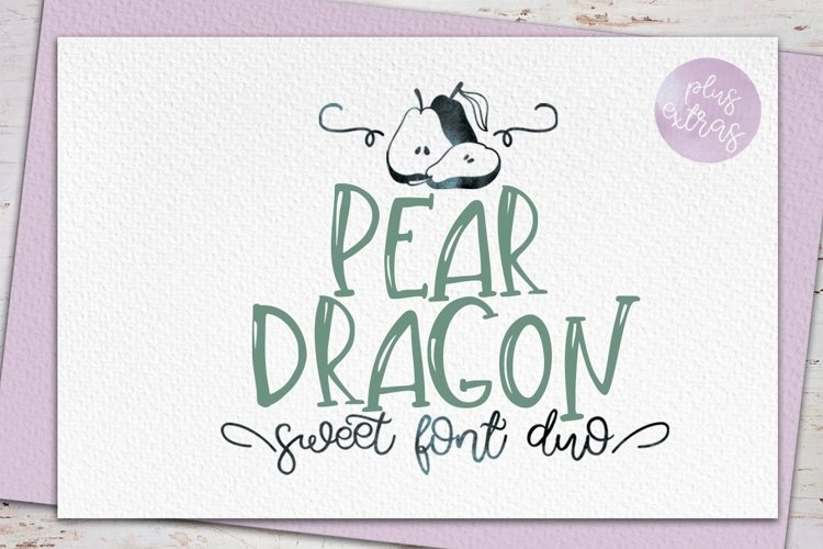 Web Font Pear Dragon.Sweet font duo&extras example image 1