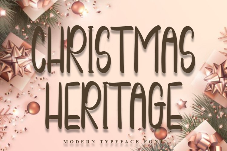 Christmas Heritage - Special Christmas Font example image 1