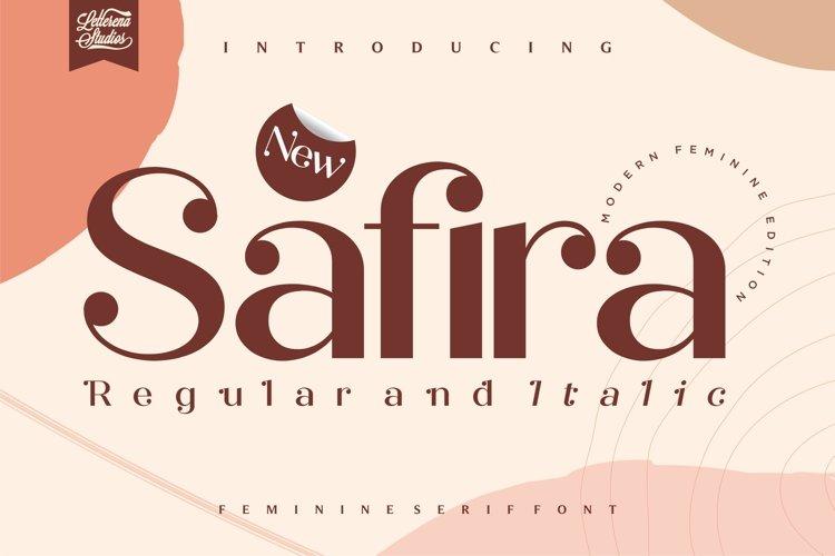 Safira- Modern Feminine SerifFont example image 1