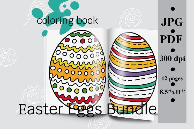 Easter Eggs Bundle Coloring Book, PDF Printable (1156756) Coloring Pages  Design Bundles
