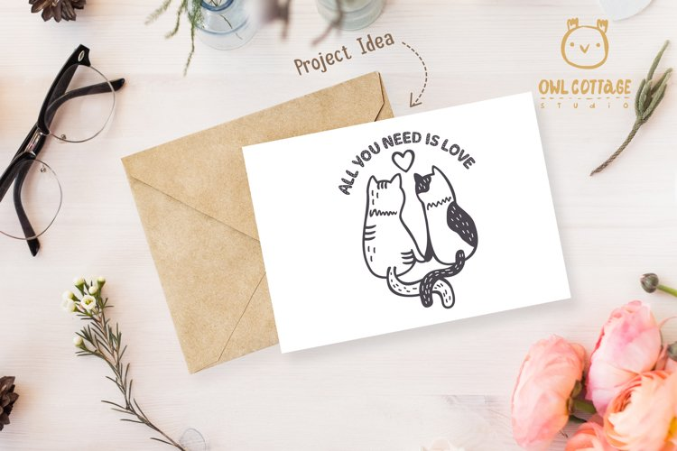 Valentine Cats Couple svg , Cats Clipart, Valentine's Day Sv - Free Design of The Week Design9