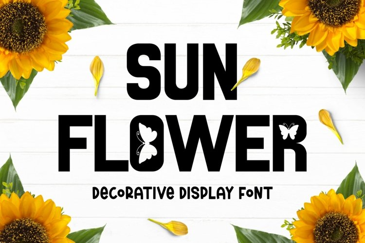 SUNFLOWER Font example image 1