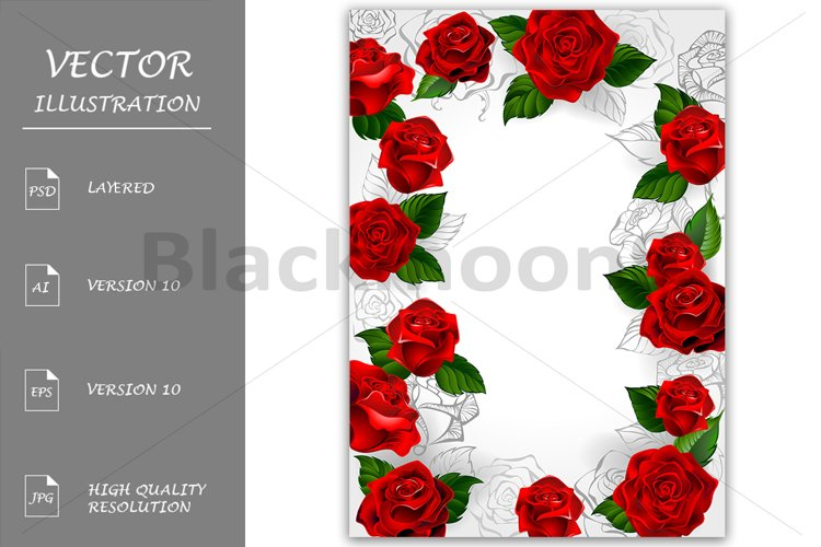 Frame of Red Roses example image 1