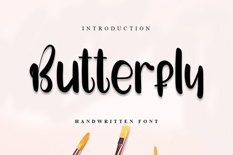 Butterfly | Cute Handwritten Font example image 1