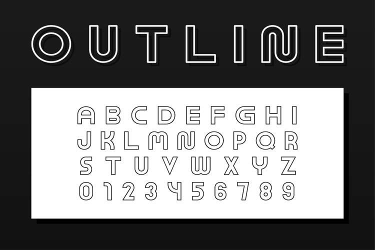 English outline vector alphabet example image 1