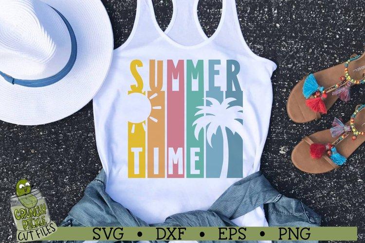 Summer Time Scene Beach SVG Cut File