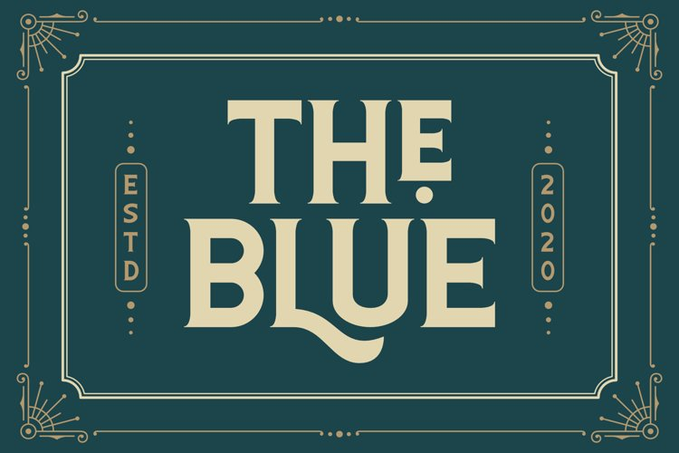 The Blue Font example image 1