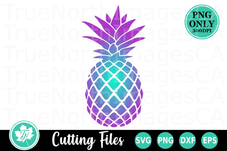 Purple Pineapple PNG for Sublimation