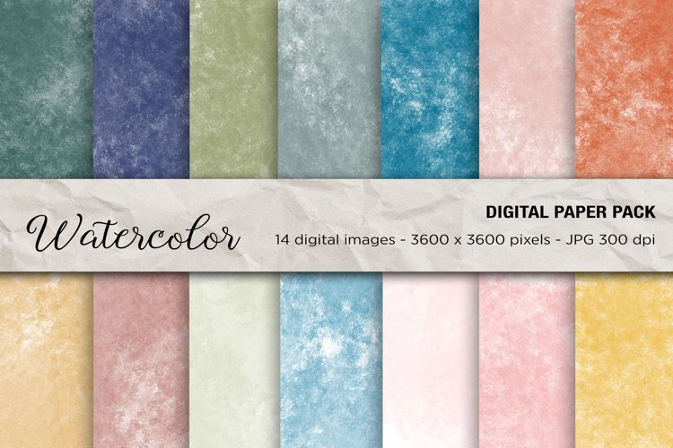 Watercolor Background, Watercolor Digital Papers example image 1
