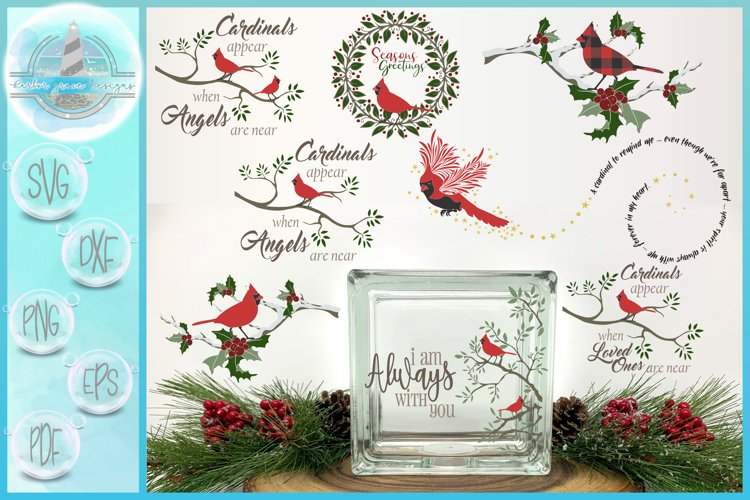 Cardinal Quote SVG Bundle - A Christmas Cardinal Collection example image 1