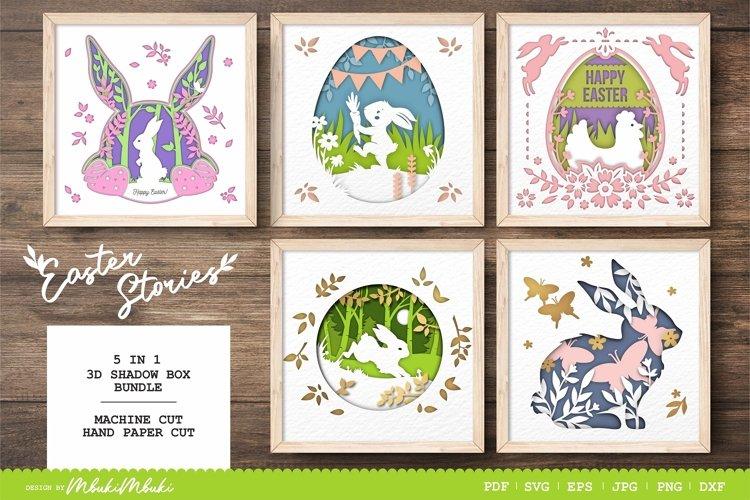 Easter Design 3D Shadow Box BUNDLE - SVG Papercut File