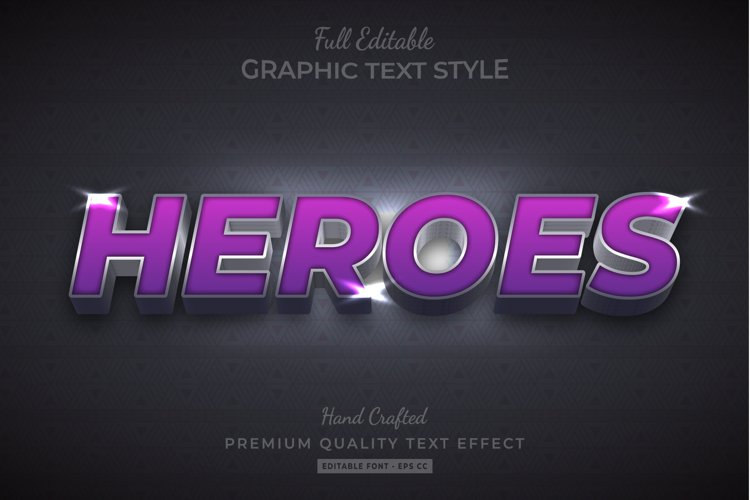 Heroes 3d Text Style Effect Premium example image 1