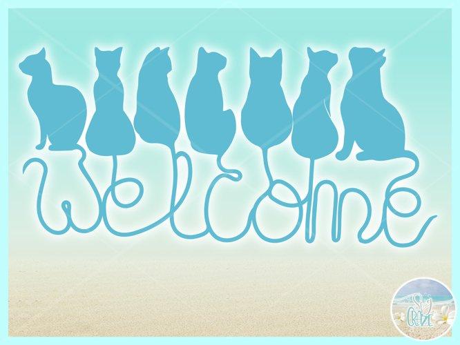 Cats Welcome Coir Door Mat Design Svg Dxf Eps Png Pdf Files - Free Design of The Week Design1