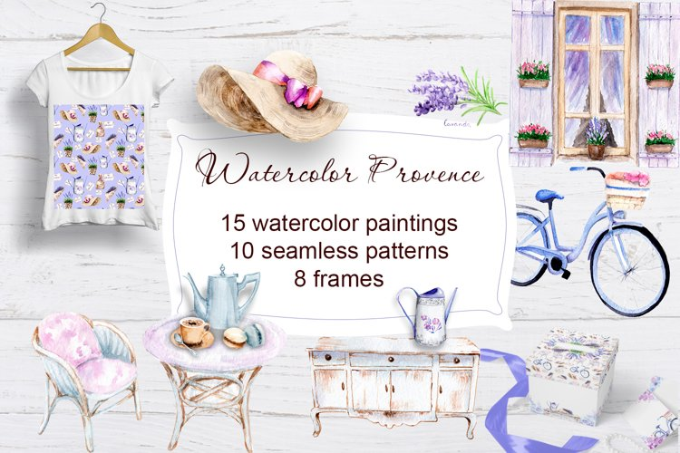 Watercolor Provence example image 1