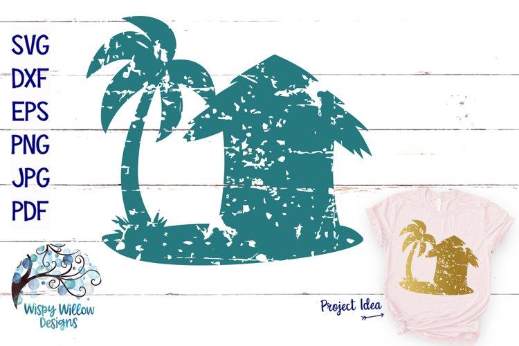 Distressed Beach Hut SVG | Grunge | Summer SVG Cut File