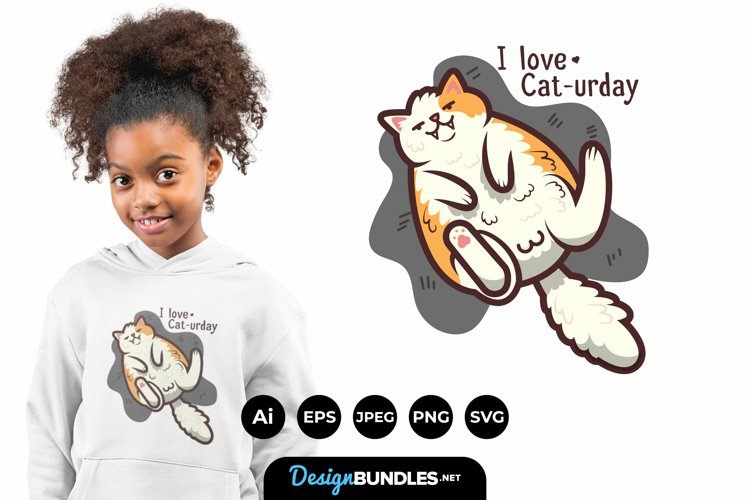 Cat-urday for T-Shirt Design example image 1