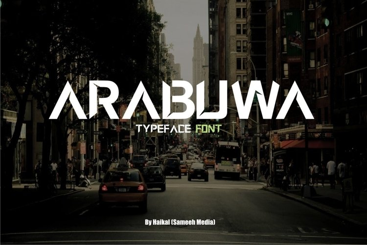 Web Font Arabuwa Typeface Font example image 1