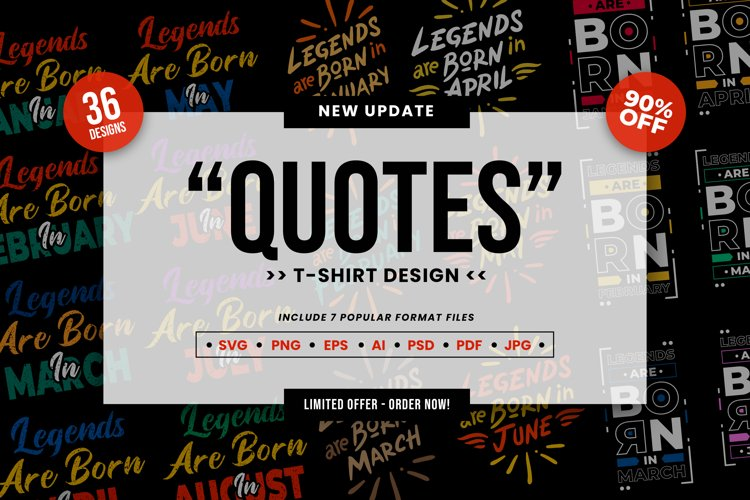 Quotes T-Shirt SVG Designs Collection