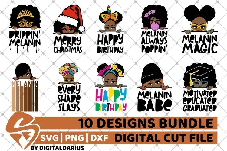 10x Black Woman Designs Bundle svg, Afro, Black History svg example image 1