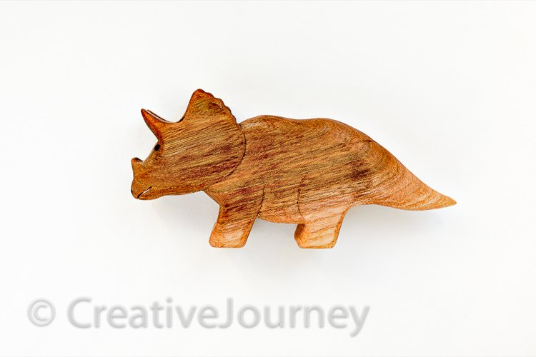 Dinosaur wooden toy. example image 1