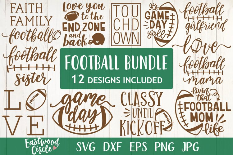 Football SVG Bundle - Cut Files for Crafters