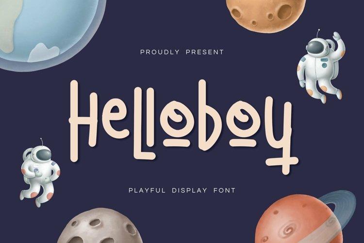 Web Font HelloBoy Display Font example image 1