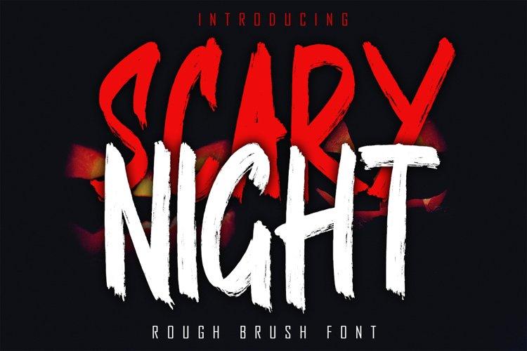 SCARY NIGHT - Rough Brush Font example image 1