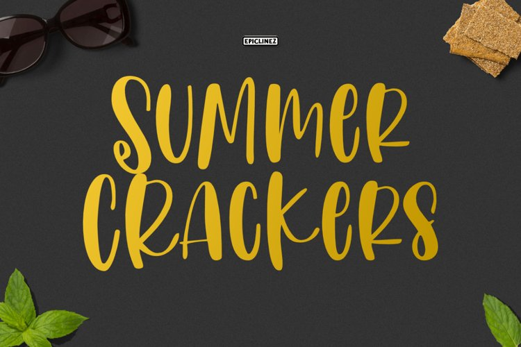 Summer Crackers | Fun Handwritten Font example image 1