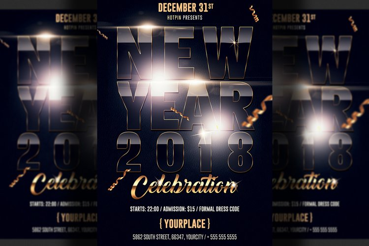 New Years Eve Flyer example image 1