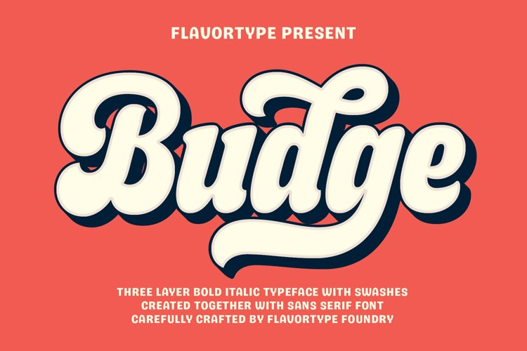 Budge - Layer Fonts example image 1