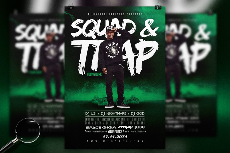 Squad & Trap | Urban Flyer Template example image 1