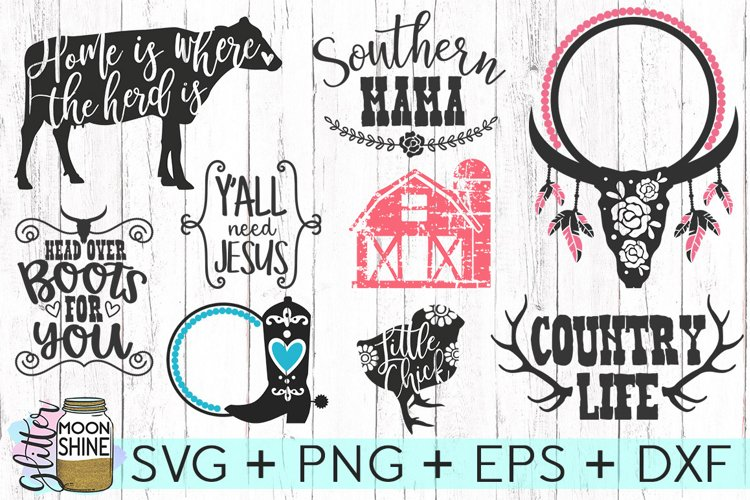 Southern Girl Bundle of 24 SVG DXF PNG EPS Cutting Files - Free Design of The Week Design1