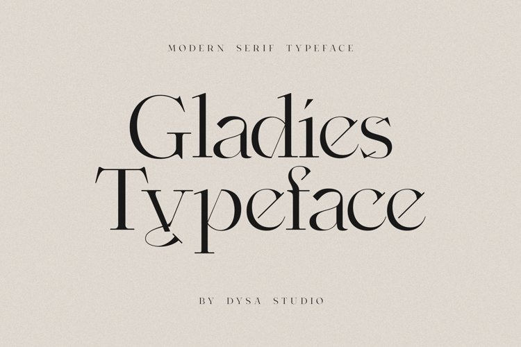 Gladies - A New Modern Serif Typeface example image 1