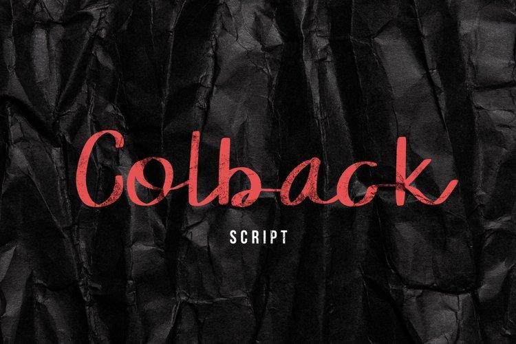 Colback Script Font example image 1