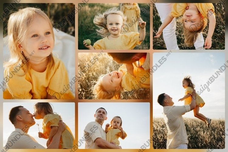 Dad and little daughter in summer day example image 1